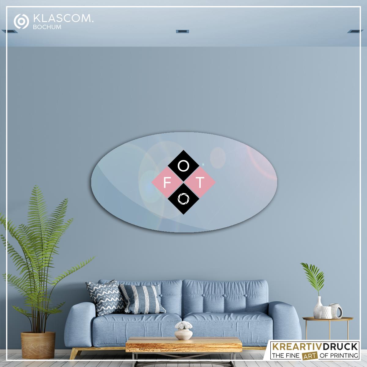 Acrylglas-Platte, konturgefräst, oval mit Foto bedrucken
