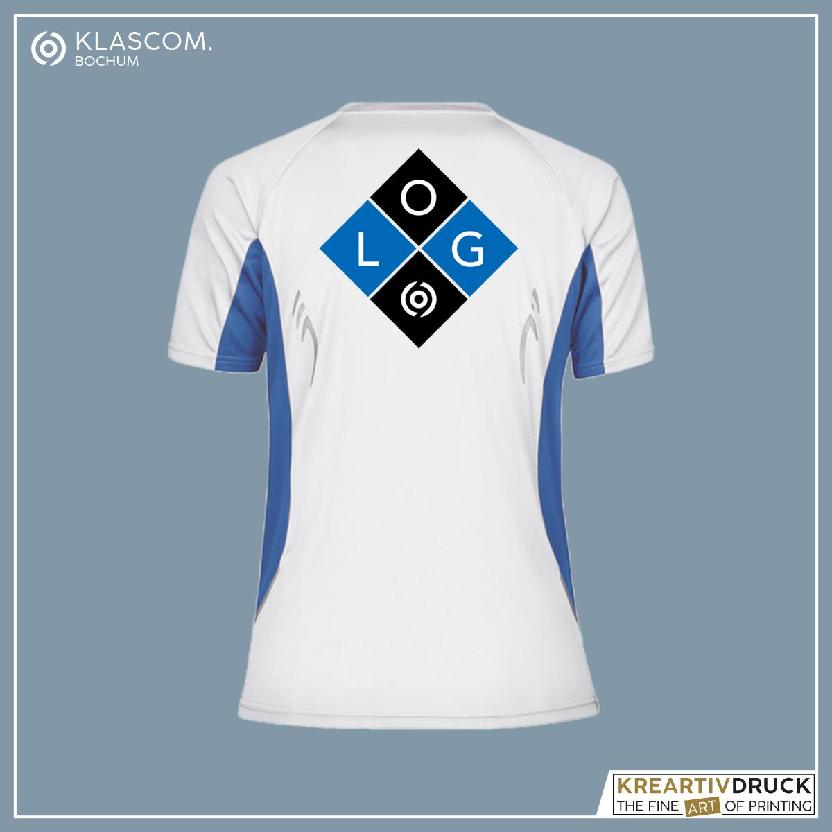 JN390 Weiß/Blau Logo auf Rücken