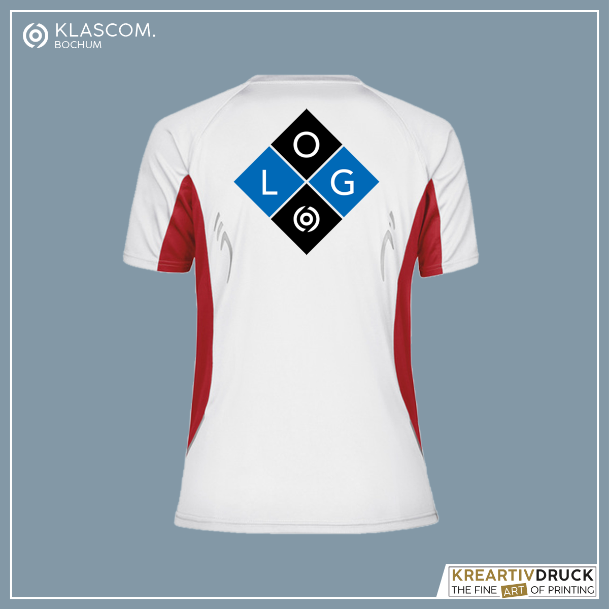 JN390 Weiß/Rot Logo auf Rücken