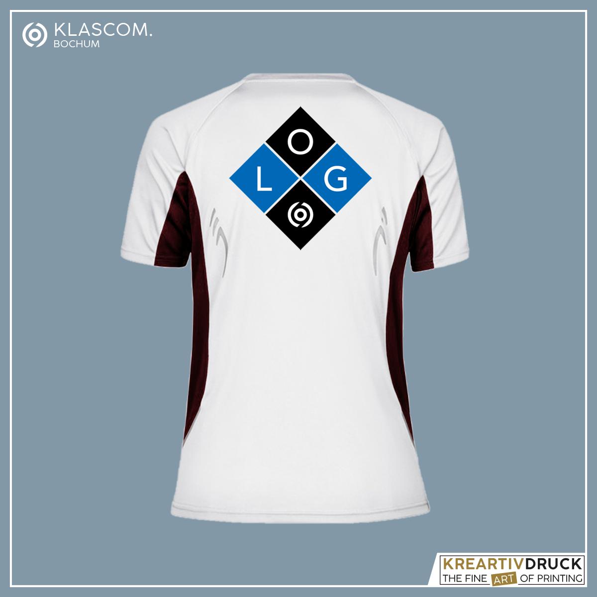 JN390 Weiß/Schwarz Logo auf Rücken