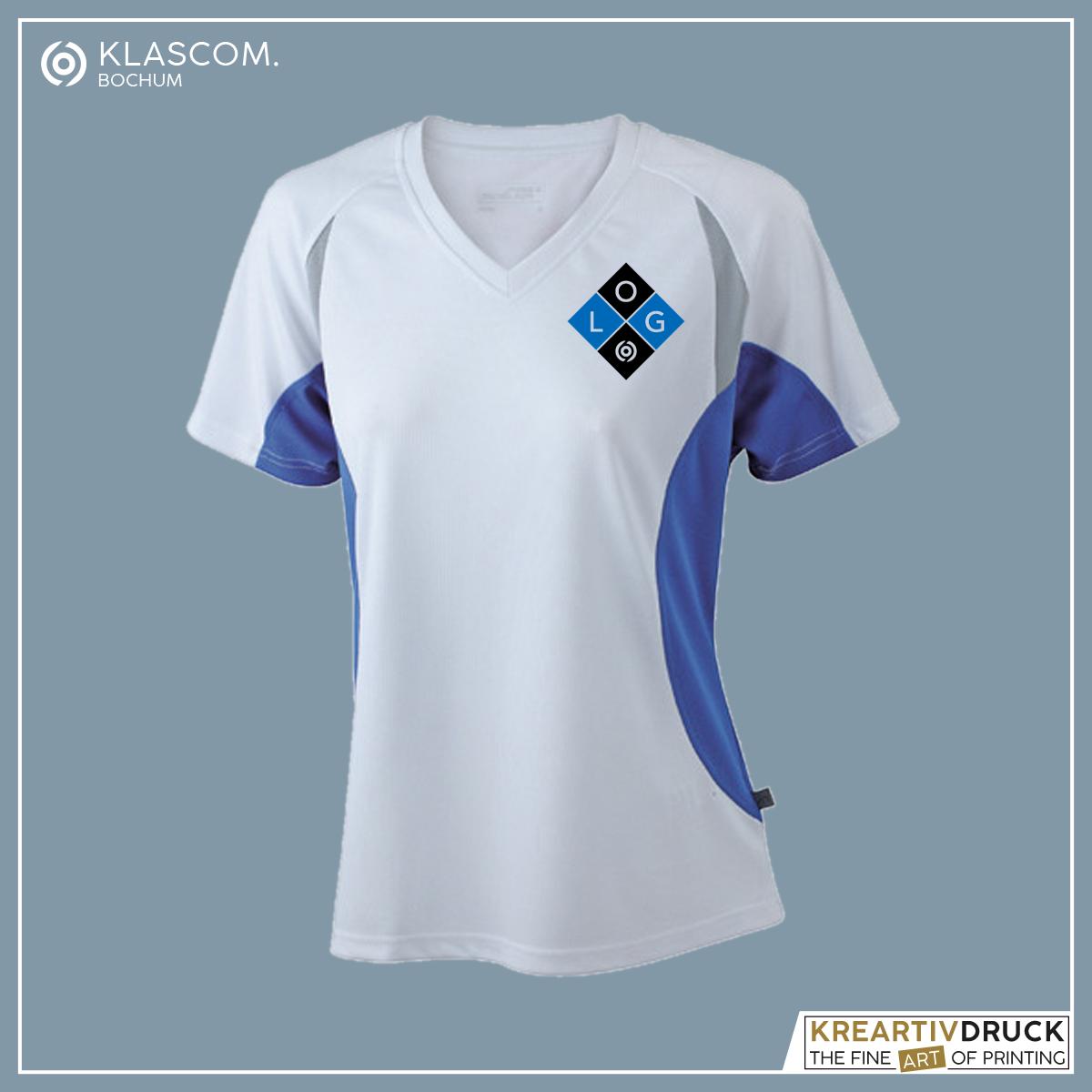 JN390 Weiß/Blau Logo auf linker Brust