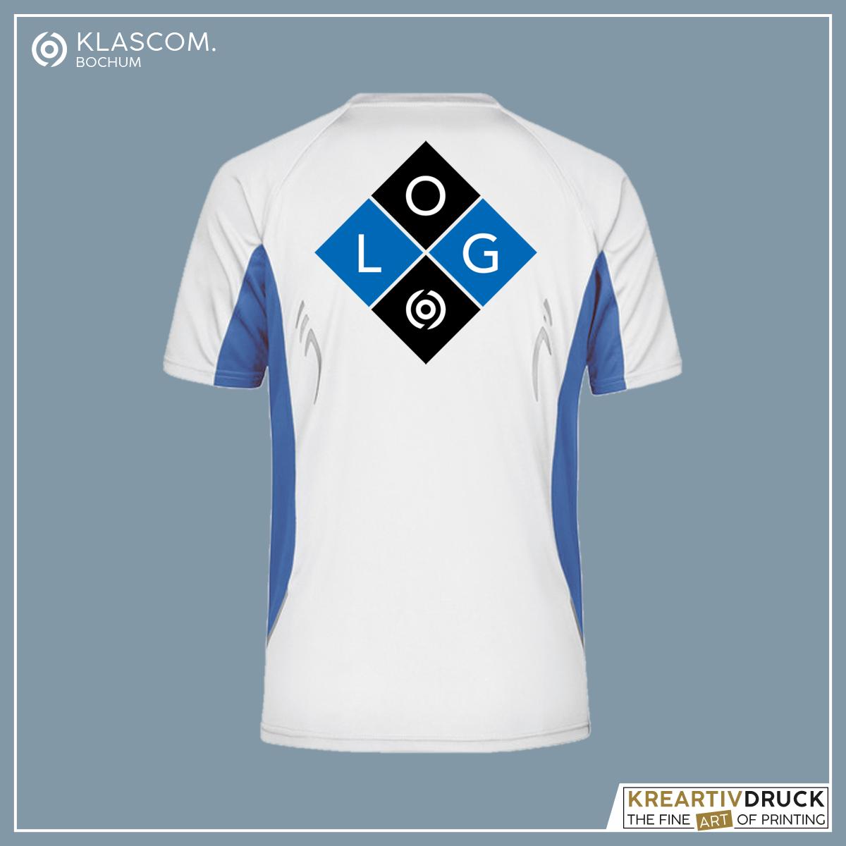 JN391 Weiß/Blau Logo auf Rücken